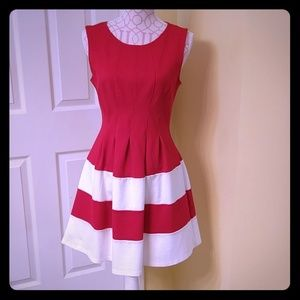 Dresses & Skirts - Monteau Los Angeles red and white dress size M